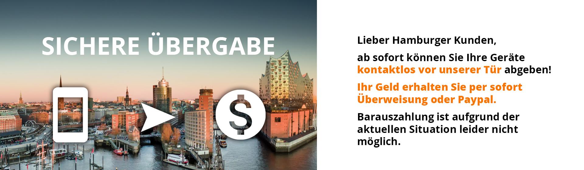 Handy verkaufen Hamburg kontaktlos